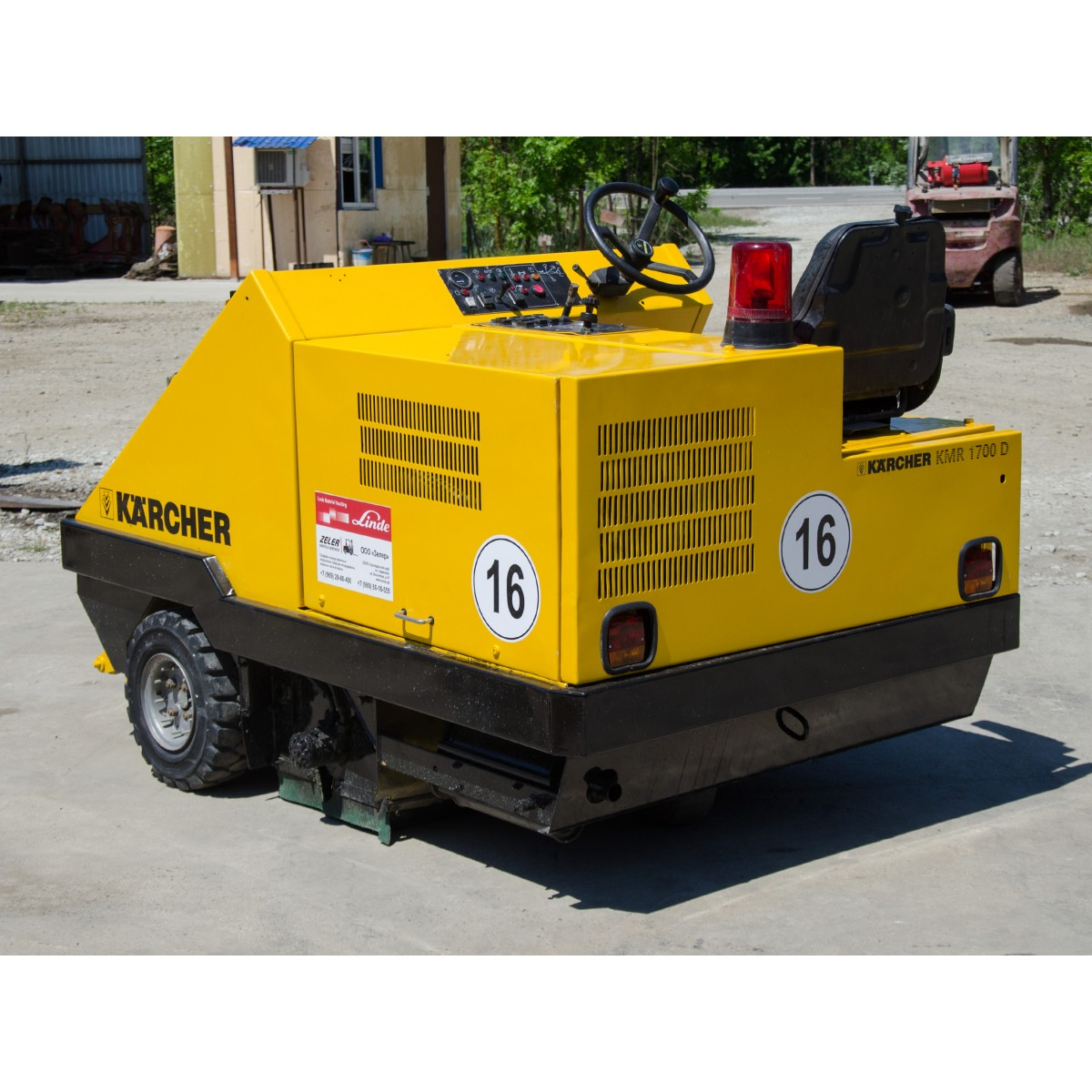 Подметальная вакуумная машина karcher kmr 1700 d